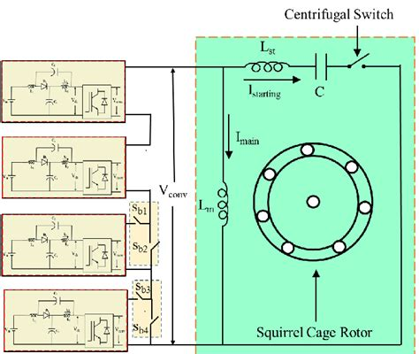 circuit diagram single phase capacitor start induction motor
