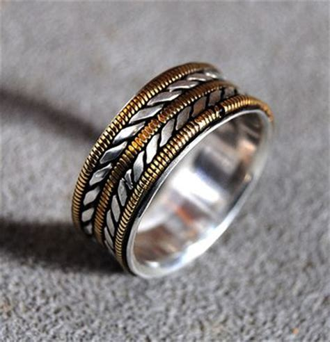 buy hand crafted mens wedding ring bronze guitar