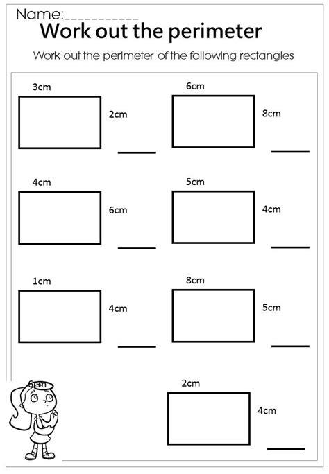 work rectangle perimeter worksheet perimeter worksheets area perimeter
