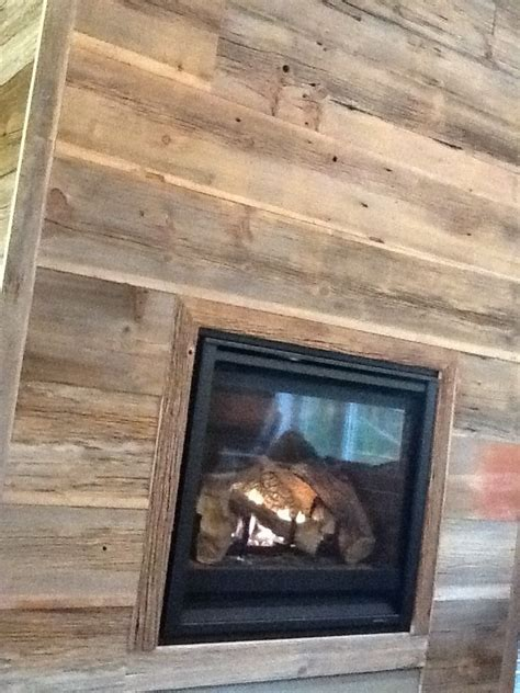 reclaimed wood fireplace favorite places spaces