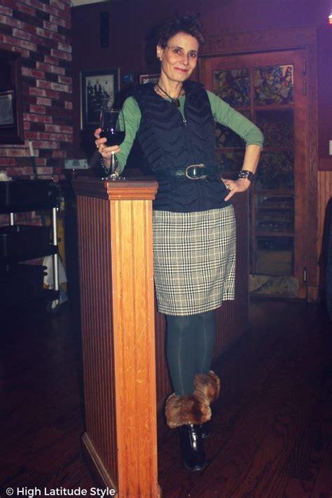 winter style layering skirt short jacket winter winter