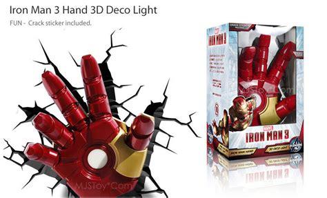marvel avangers iron man 3 hand 3d deco
