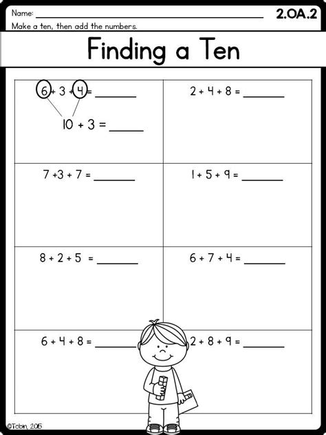 2nd grade math printables worksheets operations algebraic thinking