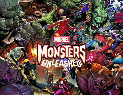 monsters unleashed crossover coming marvel comics 2017 daily
