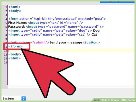 create html forms wikihow