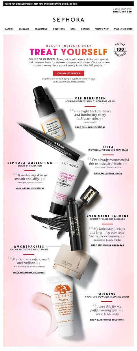 sephora email newsletter design beautiful product display great