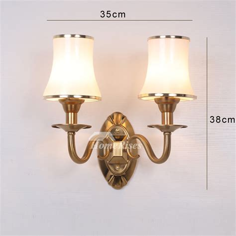 bathroom wall sconce 2 light hardware glass decorative