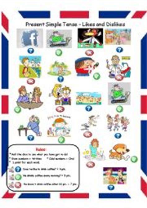 english worksheets present simple tense likes dislikes