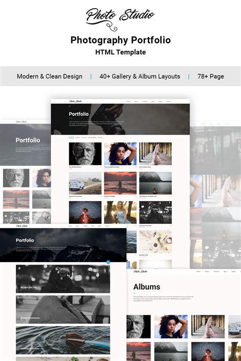 photo studio photo portfolio creative website template photo
