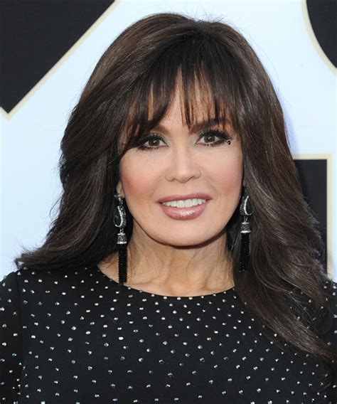 marie osmond long straight formal hairstyle blunt cut