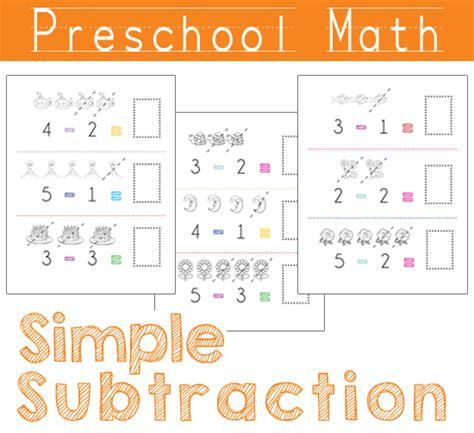 preschool math simple subtraction beautiful home
