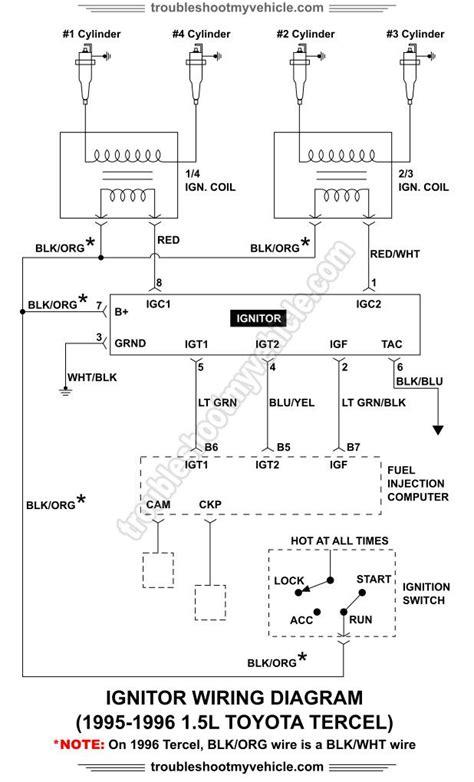 ignitor wiring diagram 1995 1996 1 5l toyota