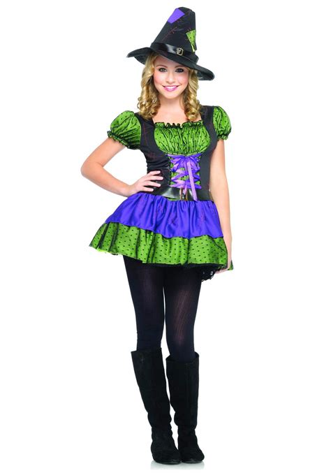 colorful teen witch costume