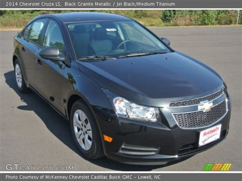 black granite metallic 2014 chevrolet cruze ls jet