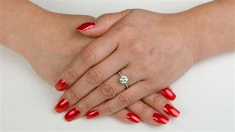hand engagement ring estate diamond jewelry