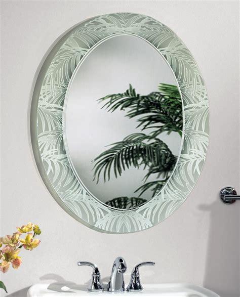 palm leaf oval bathroom mirror mirror buy mirror