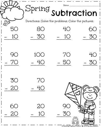 grade worksheets spring grade worksheets fun math worksheets
