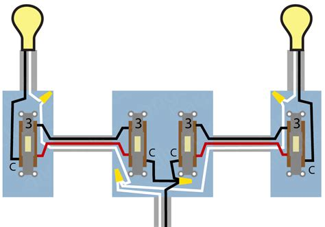 electrical wiring diagram 4 switch source centre light