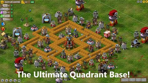 backyard monsters build ultimate quadrant base youtube