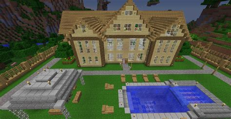 huge wood house popular diamond mac minecraft map