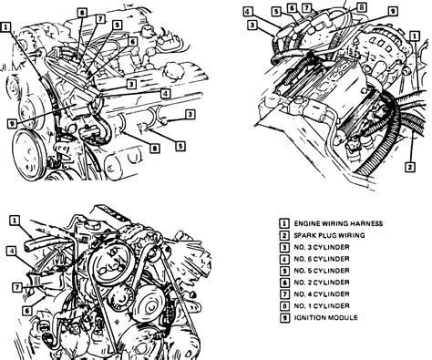 wiring illustration diagram coil pack spark plug wires