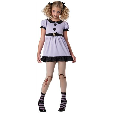 creepy doll costume tween kids dead dolly gothic