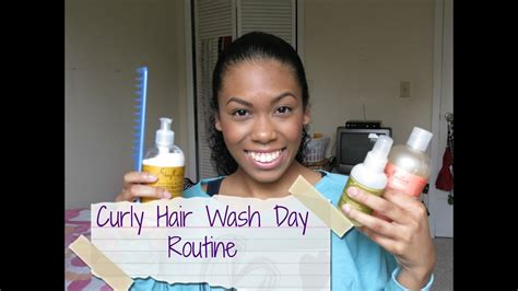 curly hair wash day routine loveangieb youtube