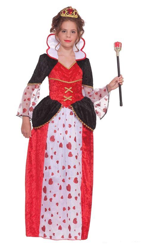 kids queen hearts tween girls costume 30 99