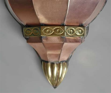 large vintage mexican copper wall sconce 1stdibs