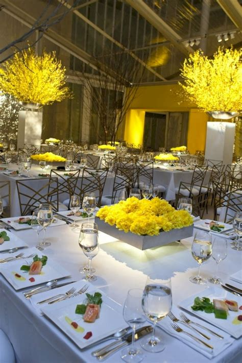 blue yellow flowers table wedding decoration 23 oosile