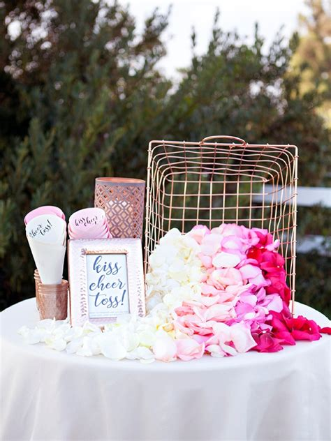 ve darling diy petal toss bar