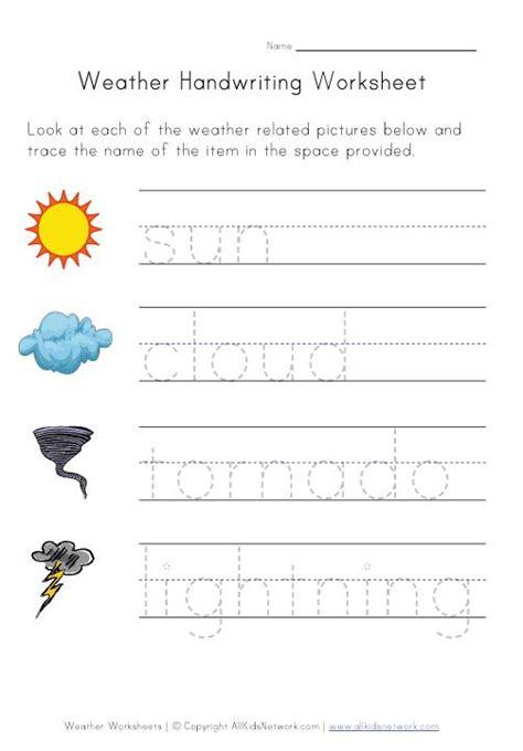 weather worksheets kids kids network