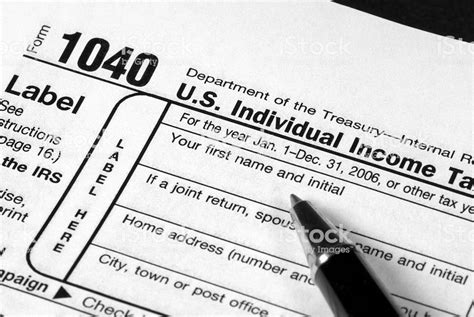 income tax form stock photo download image istock