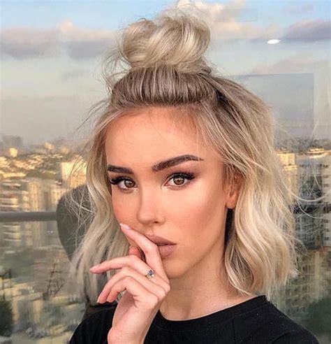 20 ideas cute easy hairstyles short hair short