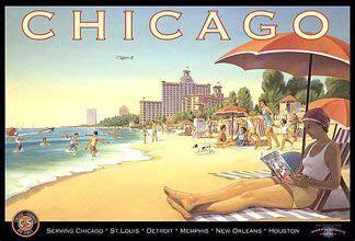 1930s chicago alive kerne erickson poster edgewater beach