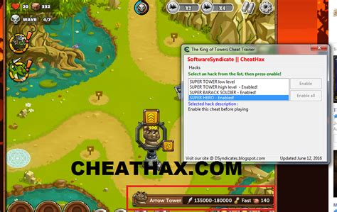 king towers cheat multi hack cheathax softwaresyndicate