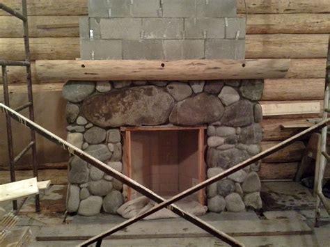 log mantel artisan masonry