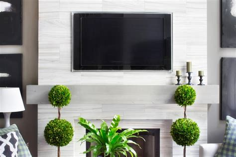 modern floating wood mantel hgtv