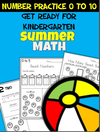 ready kindergarten math workbook summer math worksheets math