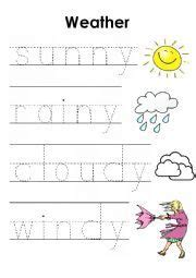 english worksheets weather pre writing worksheet pre