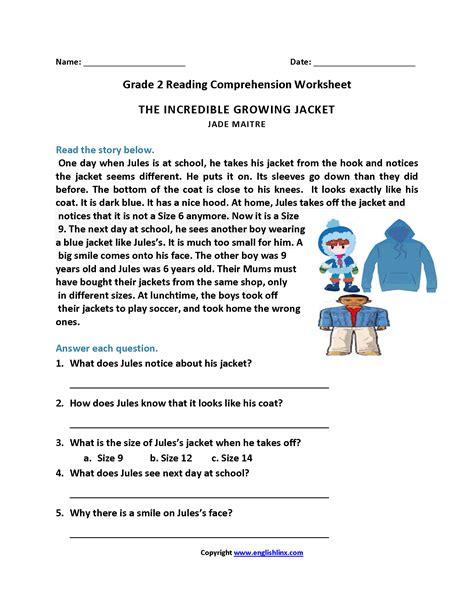 incredible growing jacket grade reading worksheets 2nd grade