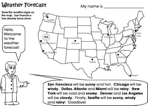 Weather Worksheet New Forecasting Weather Map