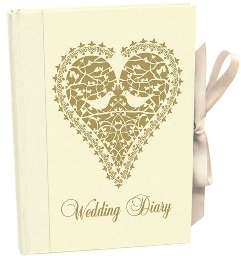 wedding planner book love doves vintage diary journal