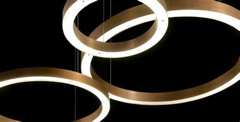 light ring horizontal suspended lights henge architonic