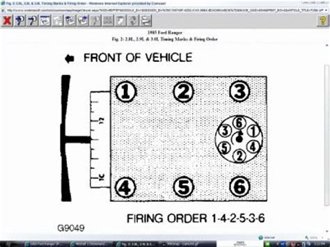 1998 ford ranger spark plug wire diagram