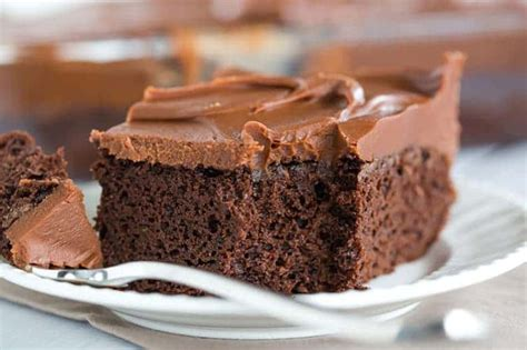 chocolate sheet cake milk chocolate ganache frosting brown