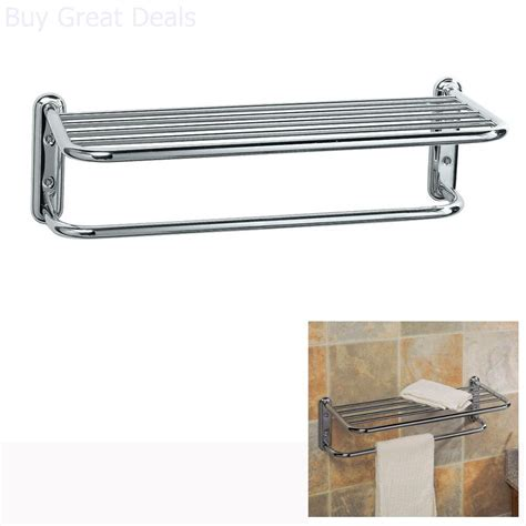 hotel style towel rack holder shelf bar organizer