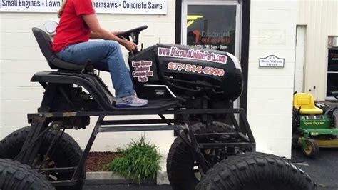 lifted monster lawn mower sneak peek youtube