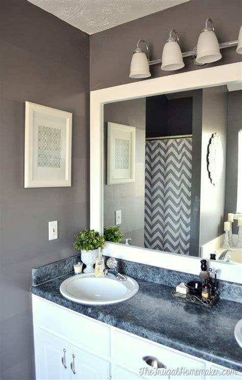 frame builder basic bathroom mirror 20 frugal homemaker