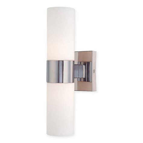minka lavery 2 light tube wall sconce chrome